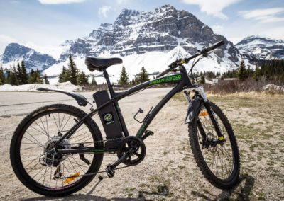 2. Scared of bumps in the road, we have an e-bike available for rent