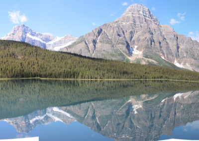 21. Sometimes you get lucky and see beauty x 2, reflections at Waterfowl Lake