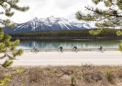 30. Don't forget to look around as you cycle. Herbert Lake near Lake Louise