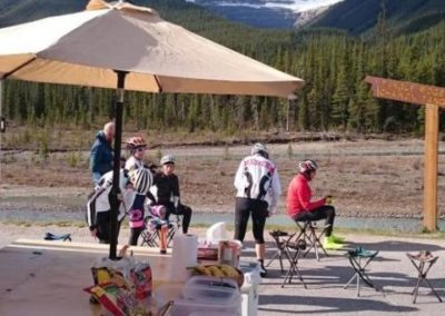 14. Rest stop on the Icefields Parkway